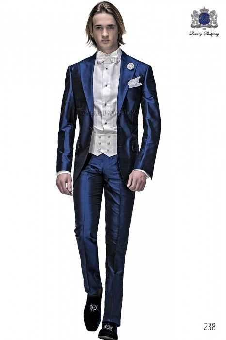 Italian royal blue wedding suit
