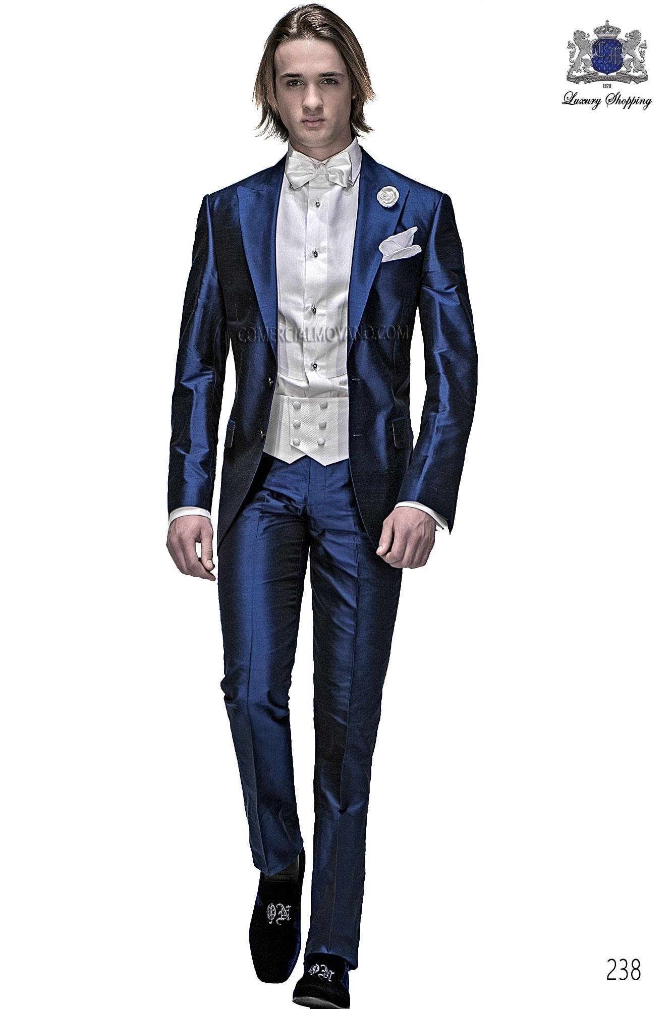 Fashion royal blue men wedding suit model 238 Ottavio Nuccio Gala