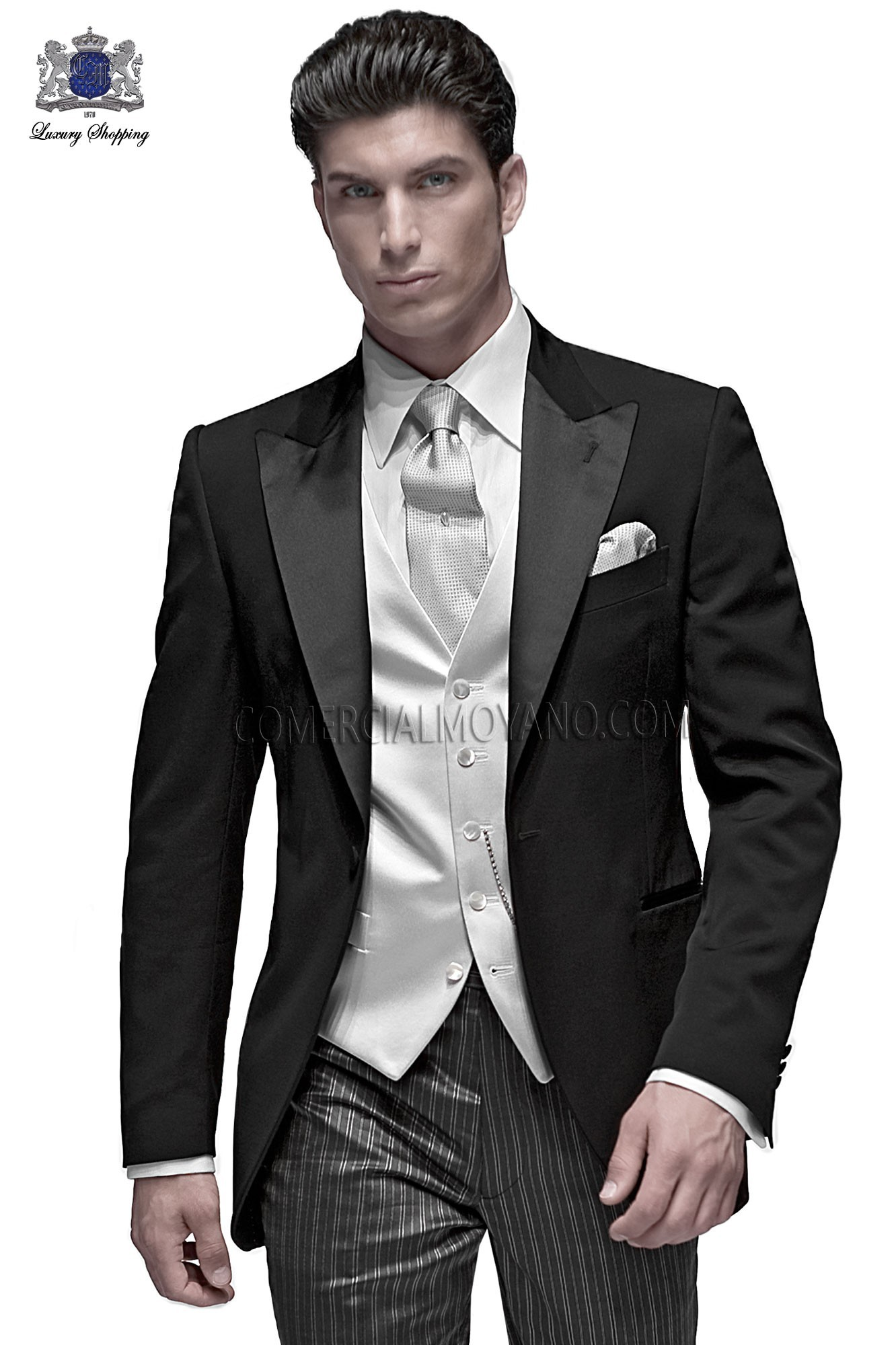 Fashion black men wedding suit, model: 60134 Ottavio Nuccio Gala ...