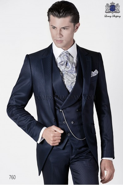 Italian fashion blue men wedding suit style 760 Ottavio Nuccio Gala