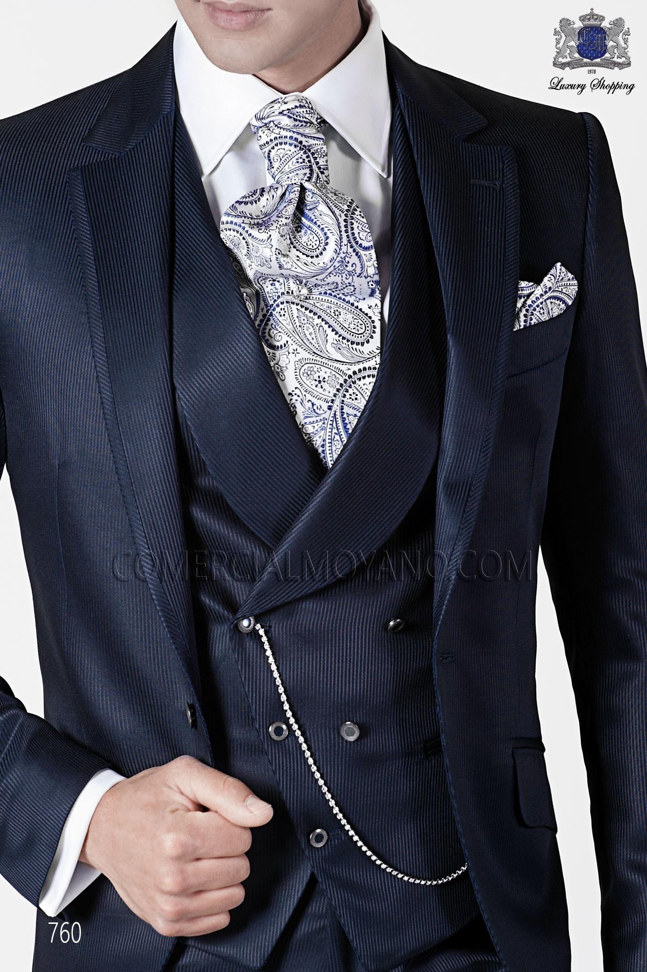 Italian fashion blue men wedding suit, model: 760 Ottavio Nuccio Gala Fashion Collection