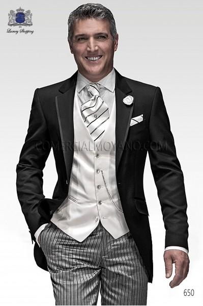 Traje de novio italiano de moda negro, modelo 650 colección Fashion Ottavio Nuccio Gala