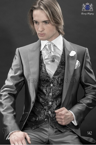 Traje de novio italiano de moda gris, modelo 142 colección Fashion 2017 Ottavio Nuccio Gala