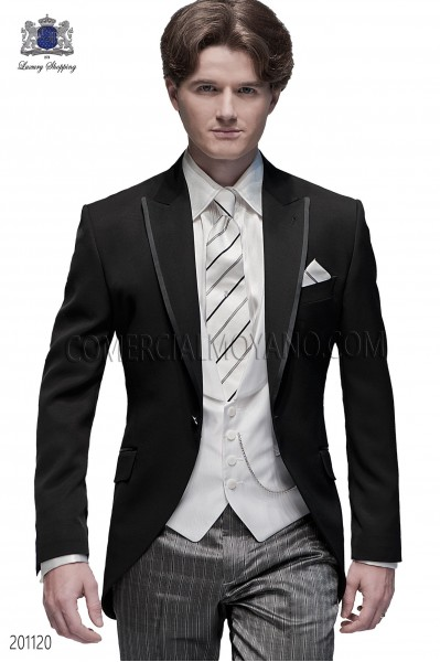 Italian fashion black men wedding suit style 201120 Ottavio Nuccio Gala