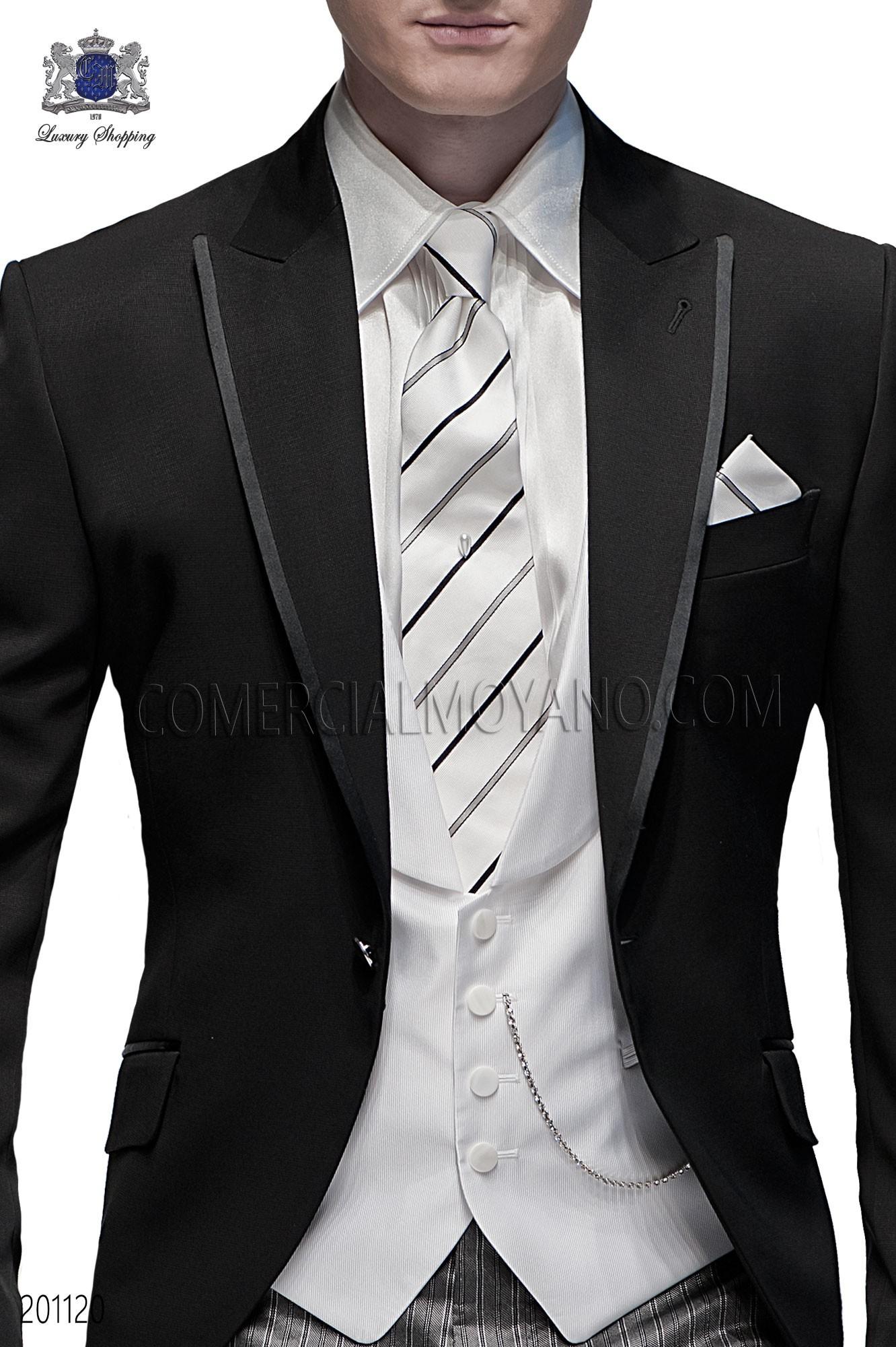 Italian fashion black men wedding suit, model: 201120 Ottavio Nuccio Gala Fashion Collection