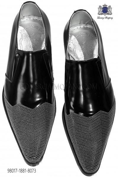 Zapatos botín negro adornos metal 98017-1881-8073 Ottavio Nuccio Gala.