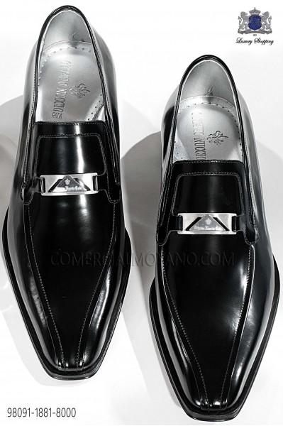 Black leather men shoes 98091-1881-8000 Ottavio Nuccio Gala.