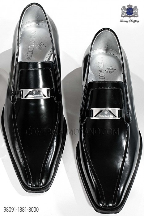 Black leather men shoes 98091-1881-8000 Ottavio Nuccio Gala.