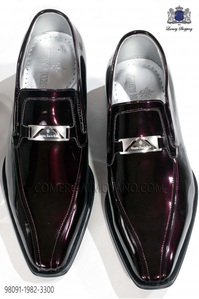 Burgundy patent leather men shoes 98091-1982-3300 Ottavio Nuccio Gala.