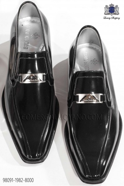 Black patent leather men shoes 98091-1982-8000 Ottavio Nuccio Gala.