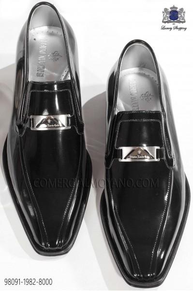 Zapato moda charol negro