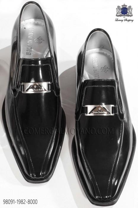 Black patent leather men shoes 98091-1982-8000 Ottavio Nuccio Gala.