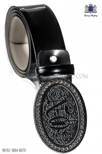 Black belt with emotion buckle 98192-1884-8070 Ottavio Nuccio Gala.