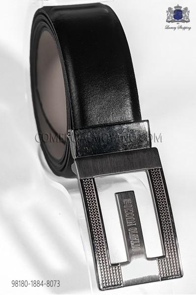 Cinturón cuero negro 98180-1884-8073 Ottavio Nuccio Gala.