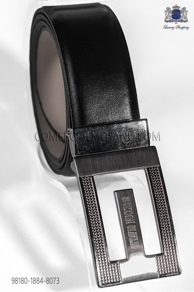 Black leather belt 98180-1884-8073 Ottavio Nuccio Gala.