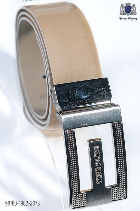 Golden patent leather belt 98180-1982-2073 Ottavio Nuccio Gala.