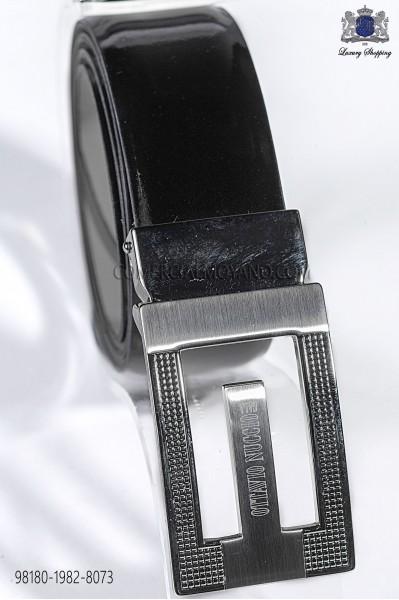 Black patent leather belt 98180-1982-8073 Ottavio Nuccio Gala.
