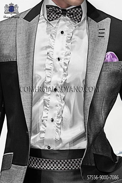 Silk cummerbund and bow tie 57556-9000-7086 Ottavio Nuccio Gala.