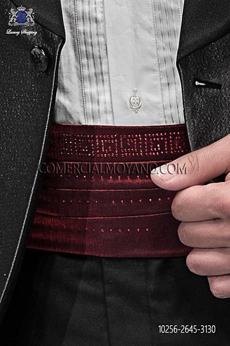 Red lurex cummerbund 10256-2645-3130 Ottavio Nuccio Gala.