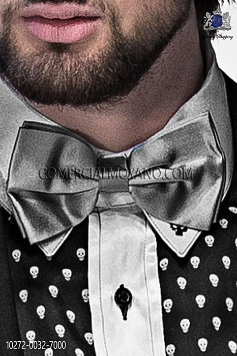 Gray satin bow tie 10272-0032-7000 Ottavio Nuccio Gala.