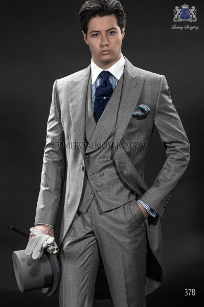Italian gentleman gray men wedding suit style 378 Ottavio Nuccio Gala