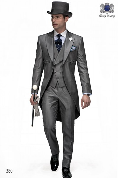 Italian gentleman gray men wedding suit style 380 Ottavio Nuccio Gala