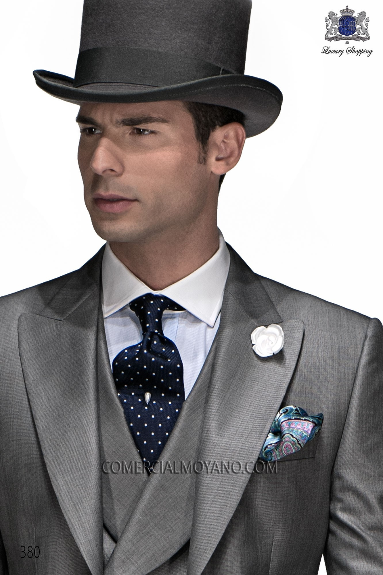Gentleman gray men wedding suit, model: 380 Ottavio Nuccio Gala ...