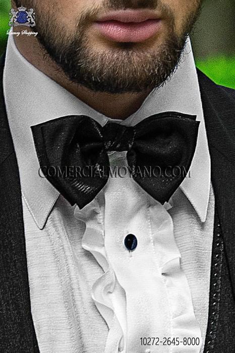 Black lurex bow tie 10272-2645-8000 Ottavio Nuccio Gala.