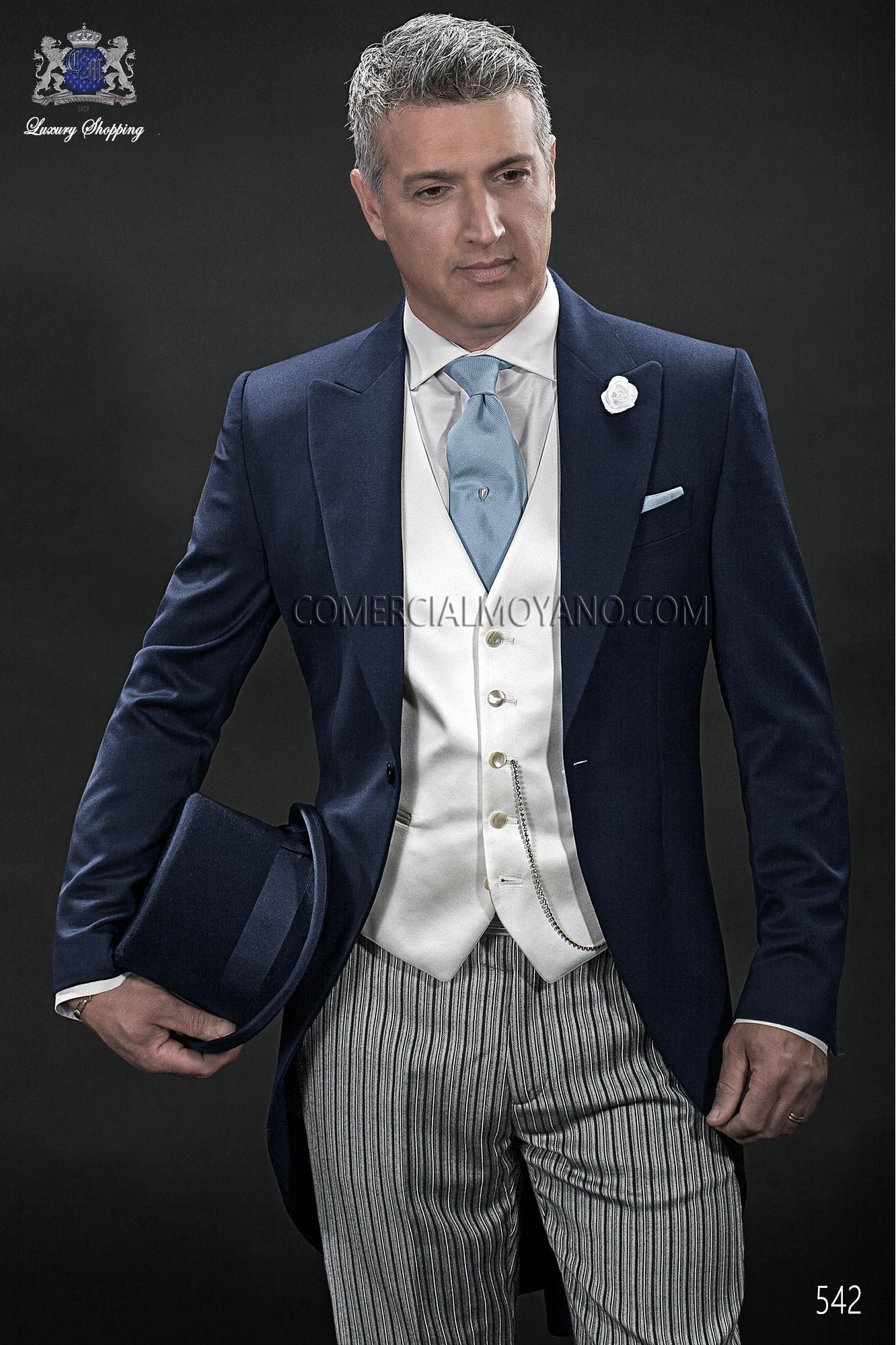 Traje de novio italiano azul modelo: 542 Ottavio Nuccio Gala colección Gentleman