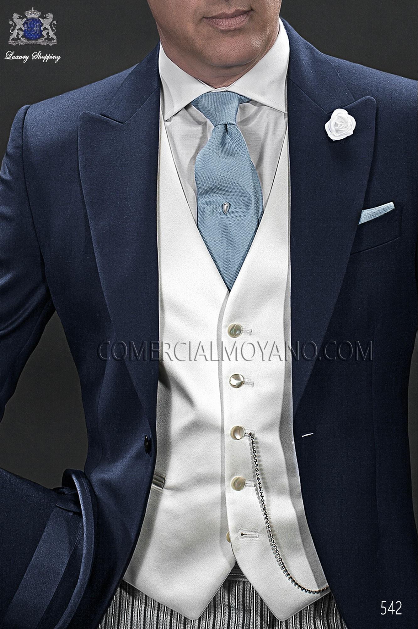 Italian gentleman blue men wedding suit, model: 542 Ottavio Nuccio Gala Gentleman Collection