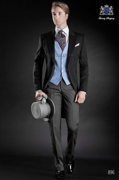 Traje de novio italiano negro, modelo 896 colección Gentleman Ottavio Nuccio Gala.