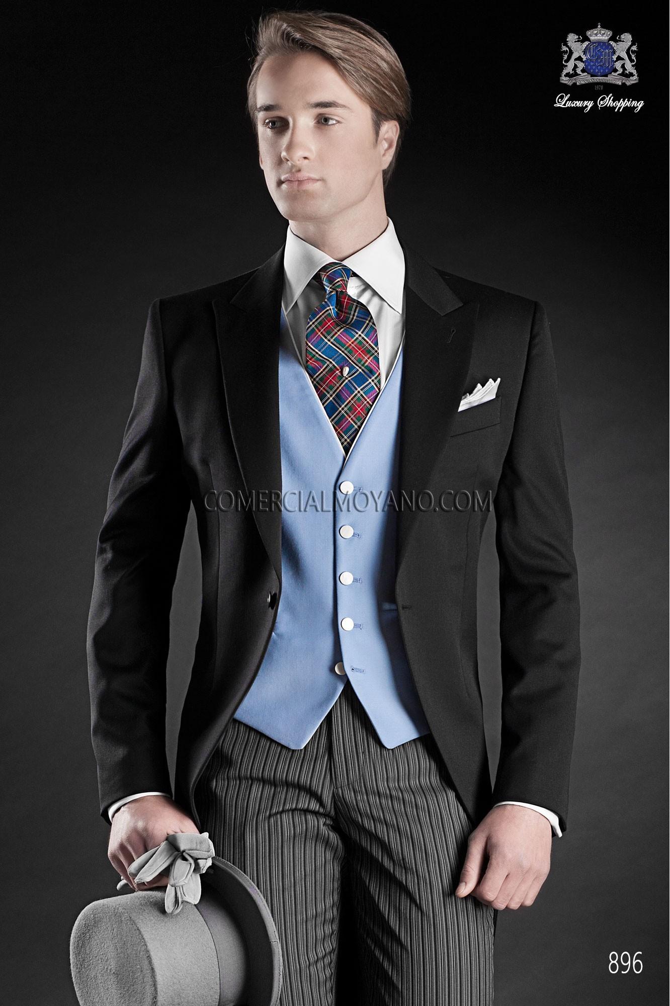 Traje Gentleman de novio negro modelo: 896 Ottavio Nuccio Gala colección Gentleman
