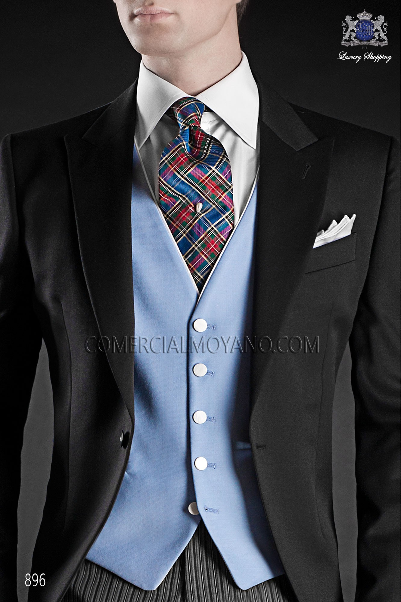 Italian gentleman black men wedding suit, model: 896 Ottavio Nuccio Gala Gentleman Collection