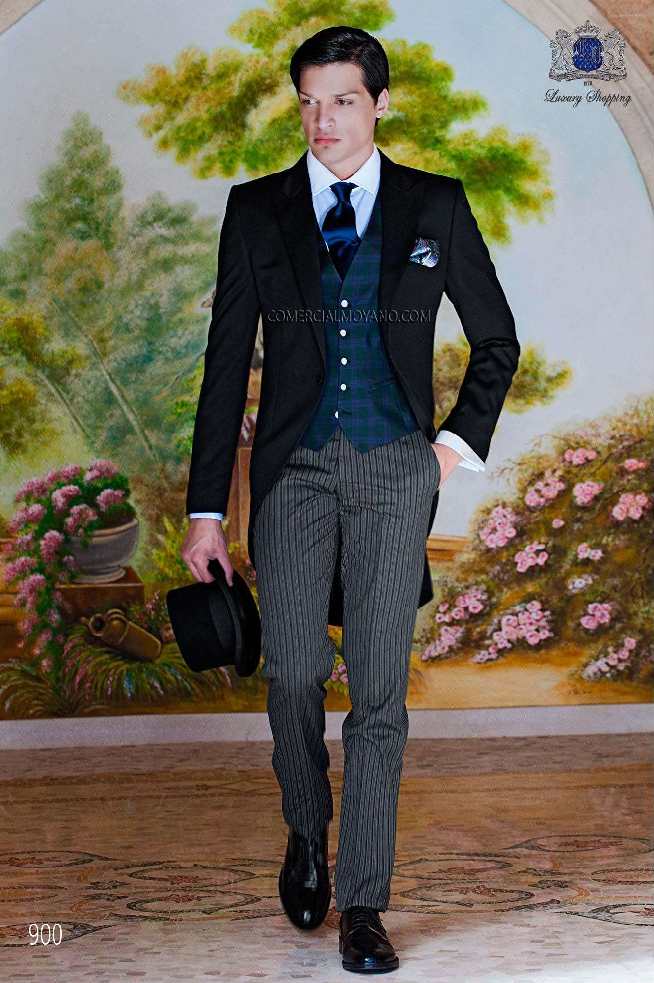 Gentleman black men wedding suit model 900 Ottavio Nuccio Gala