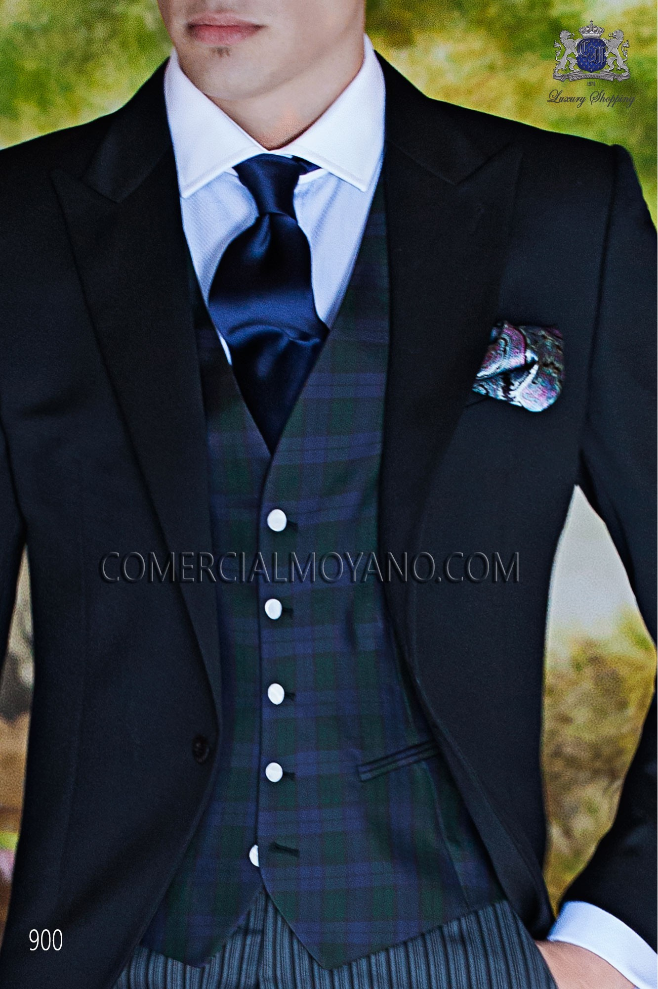 Italian gentleman black men wedding suit, model: 900 Ottavio Nuccio Gala Gentleman Collection
