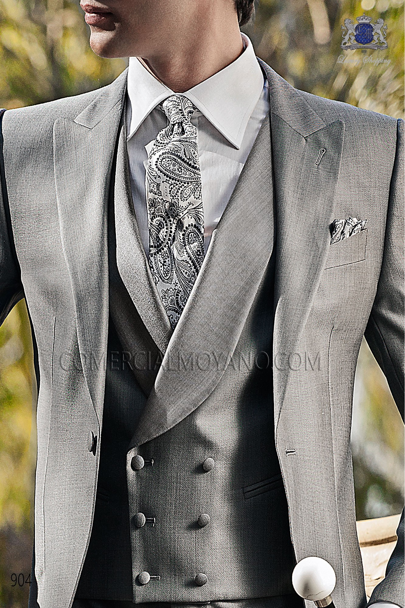 Italian gentleman gray men wedding suit, model: 904 Ottavio Nuccio Gala Gentleman Collection