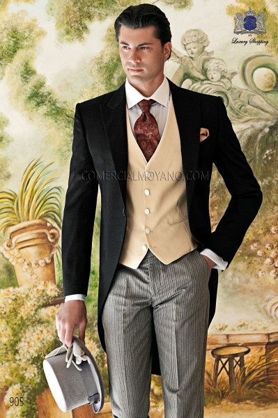 Italian gentleman black men wedding suit style 905 Ottavio Nuccio Gala