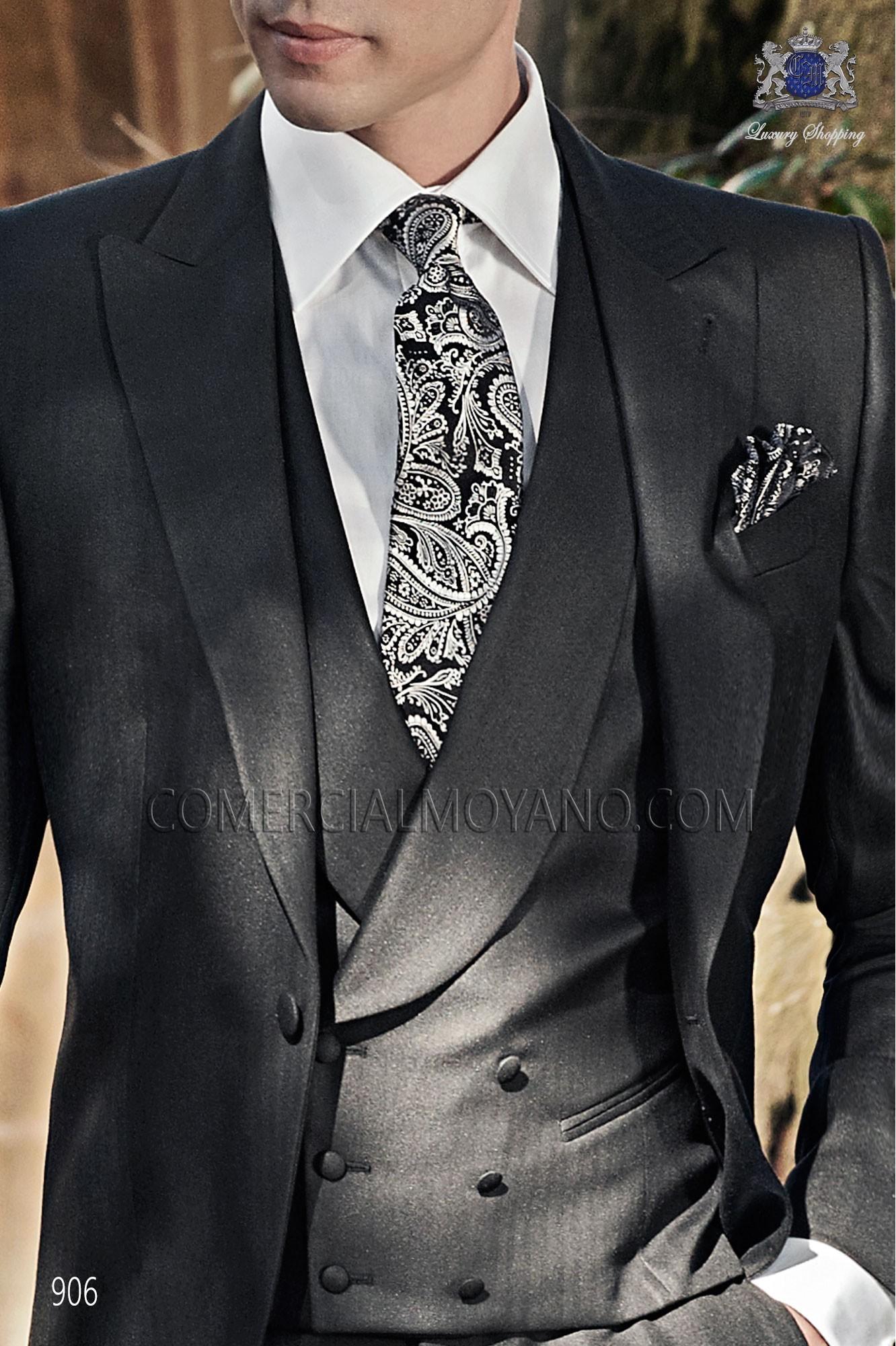 Traje Gentleman de novio negro modelo: 906 Ottavio Nuccio Gala colección Gentleman