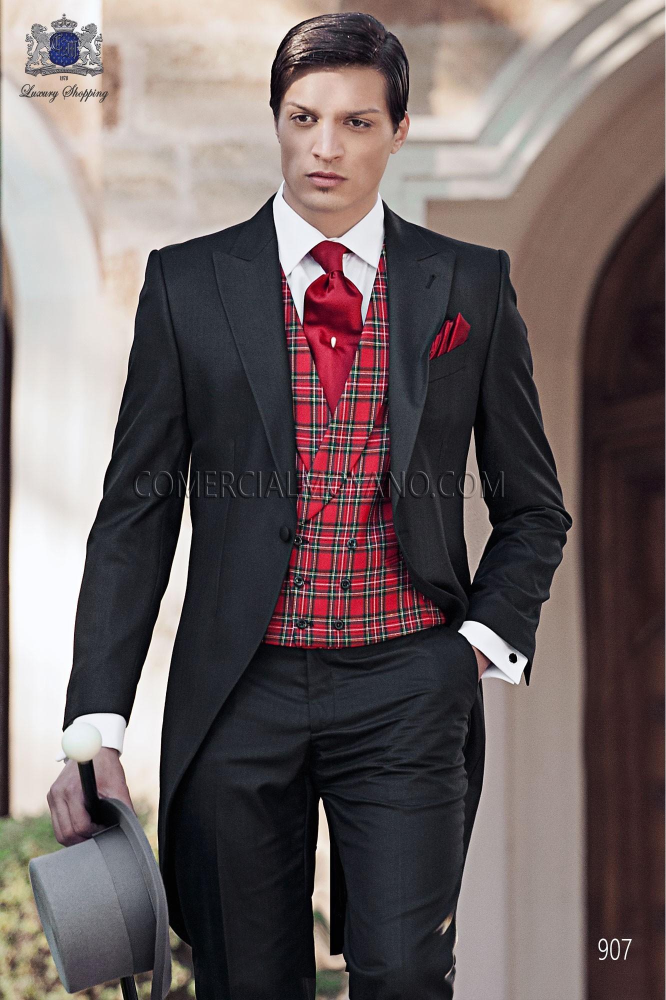 Traje de novio italiano negro modelo: 907 Ottavio Nuccio Gala colección Gentleman 2017