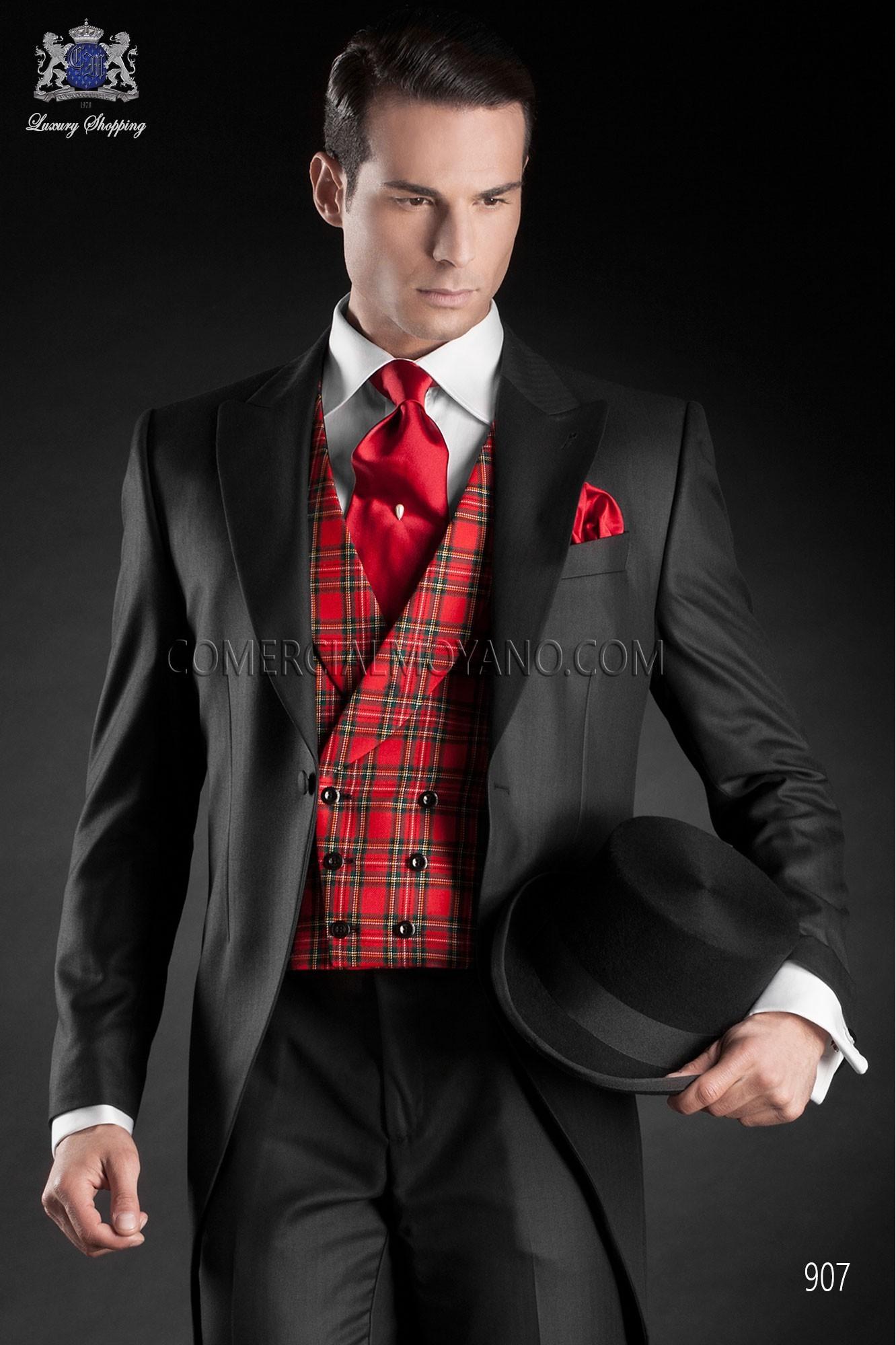 Traje Gentleman de novio negro modelo: 907 Ottavio Nuccio Gala colección Gentleman 2017