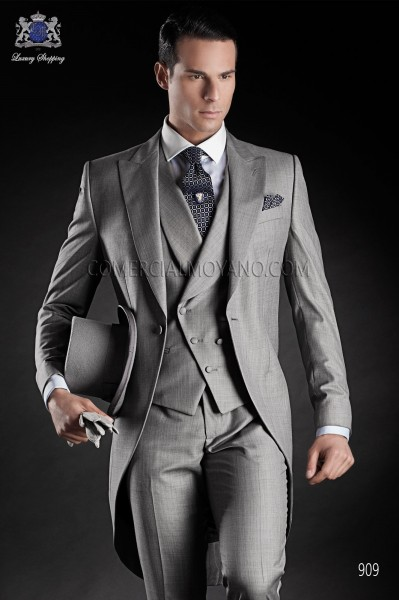 Italian gentleman gray men wedding suit style 909 Ottavio Nuccio Gala