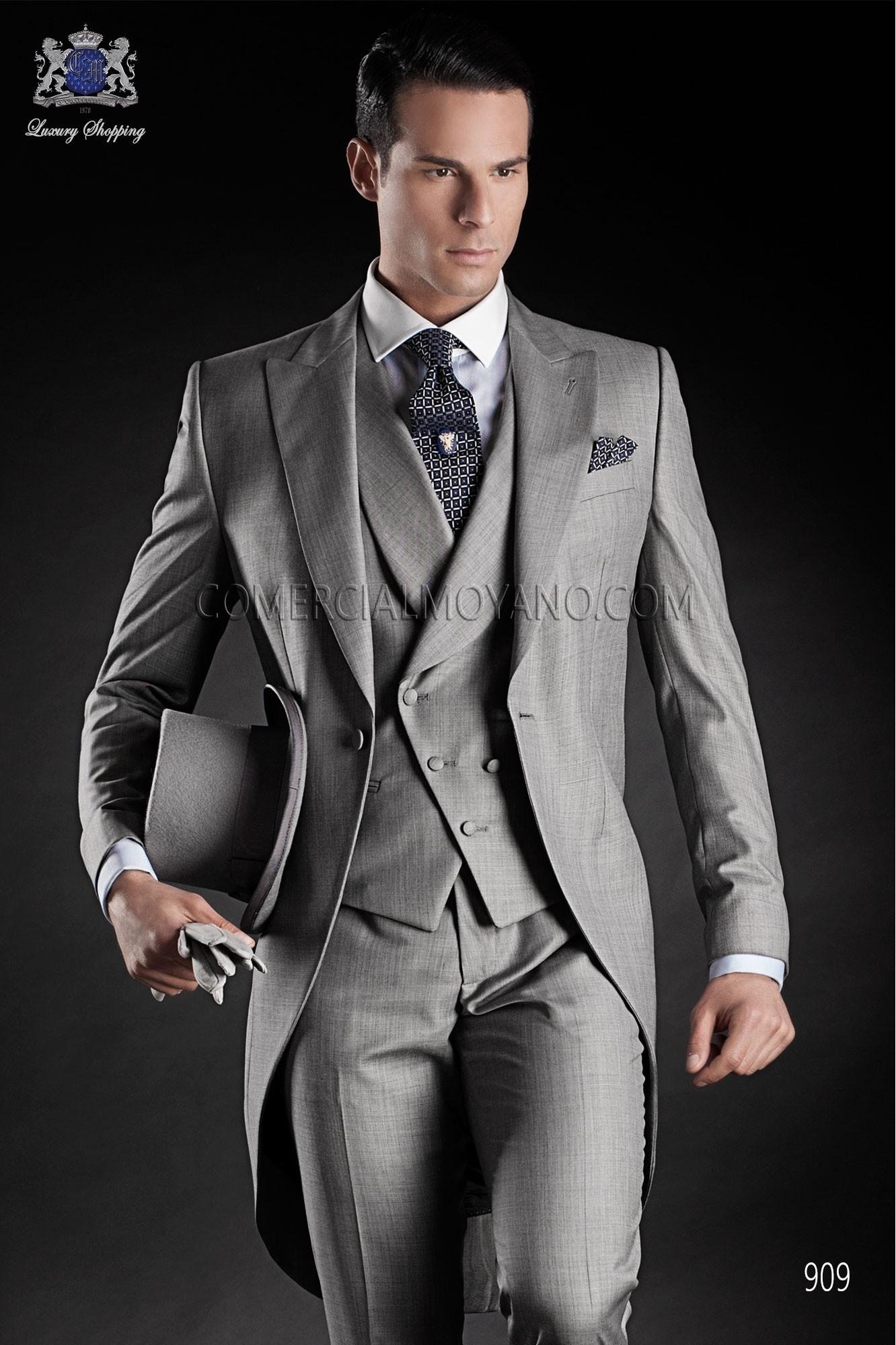 Traje de novio italiano gris modelo: 909 Ottavio Nuccio Gala colección Gentleman