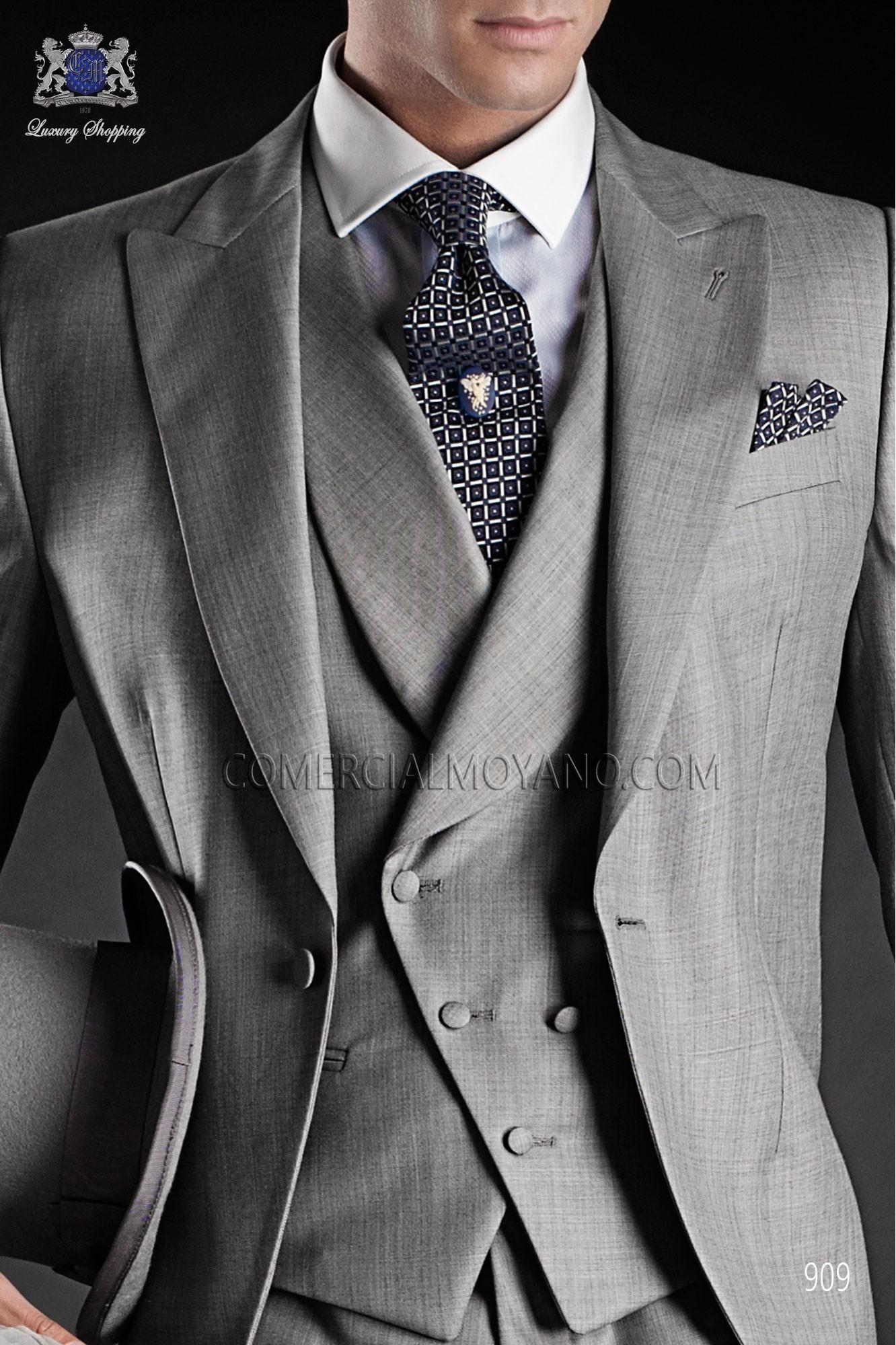 Traje Gentleman de novio gris modelo: 909 Ottavio Nuccio Gala colección Gentleman