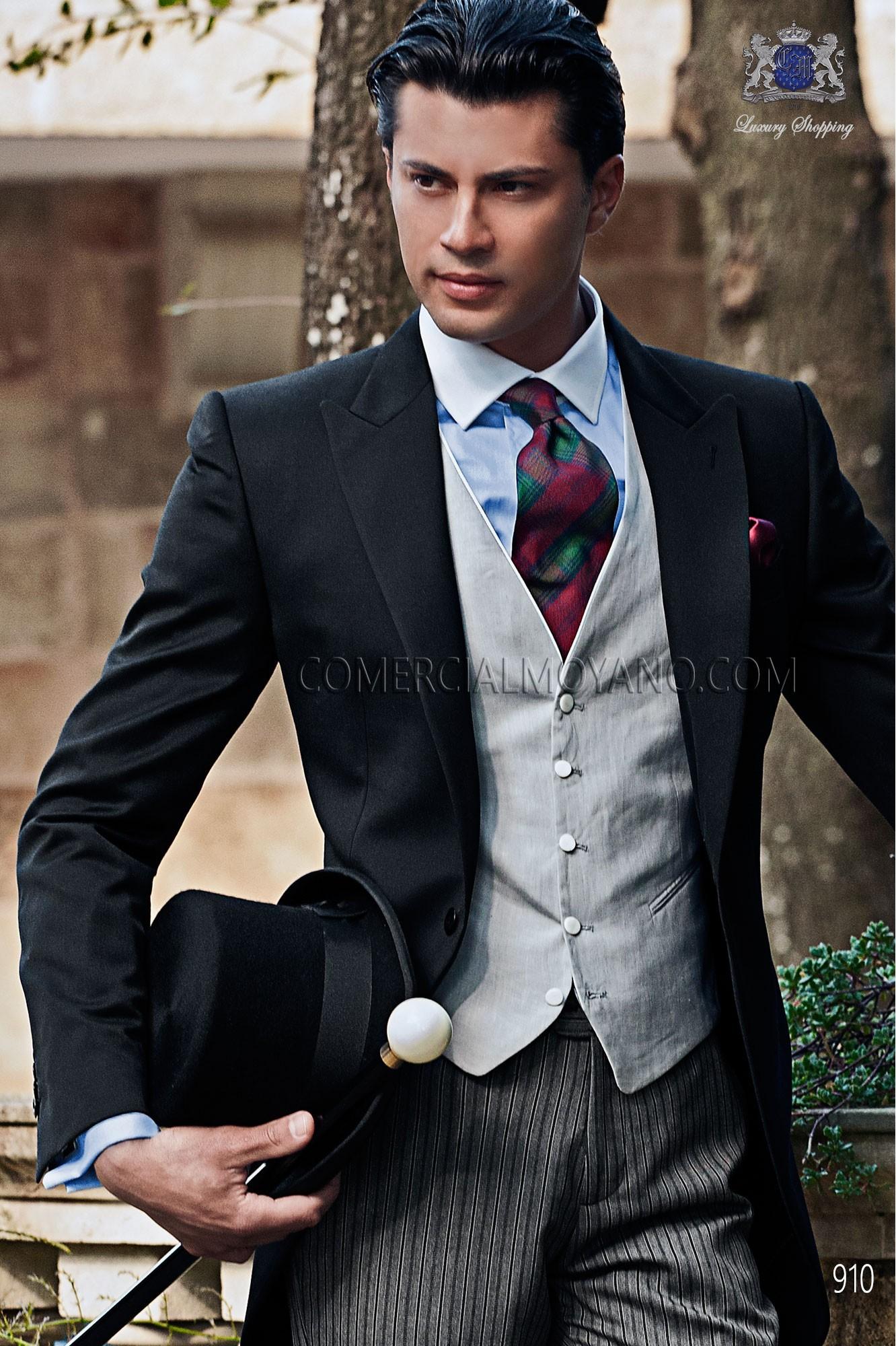 Traje Gentleman de novio negro modelo: 910 Ottavio Nuccio Gala colección Gentleman