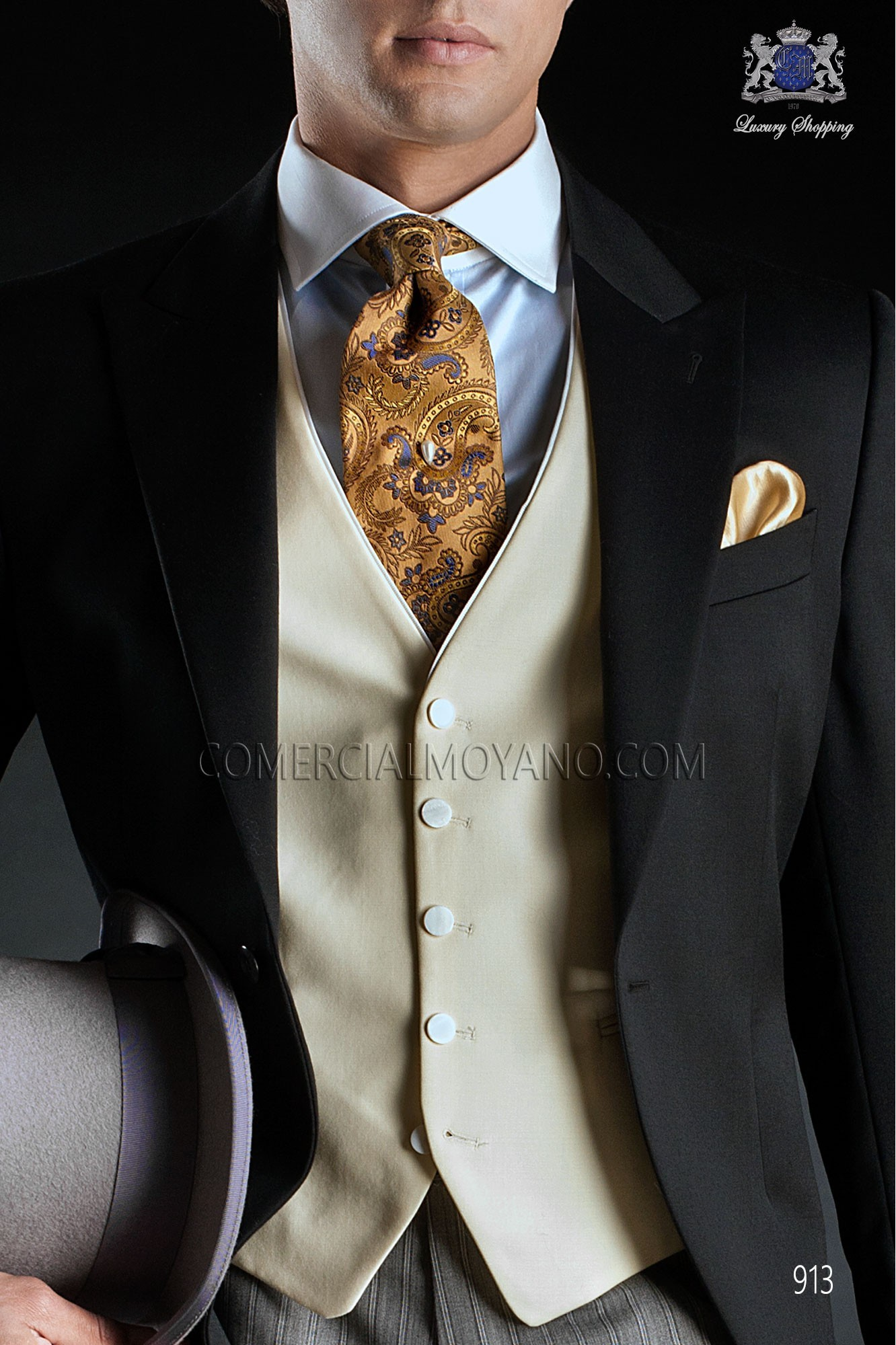Italian gentleman black men wedding suit, model: 913 Ottavio Nuccio Gala Gentleman Collection