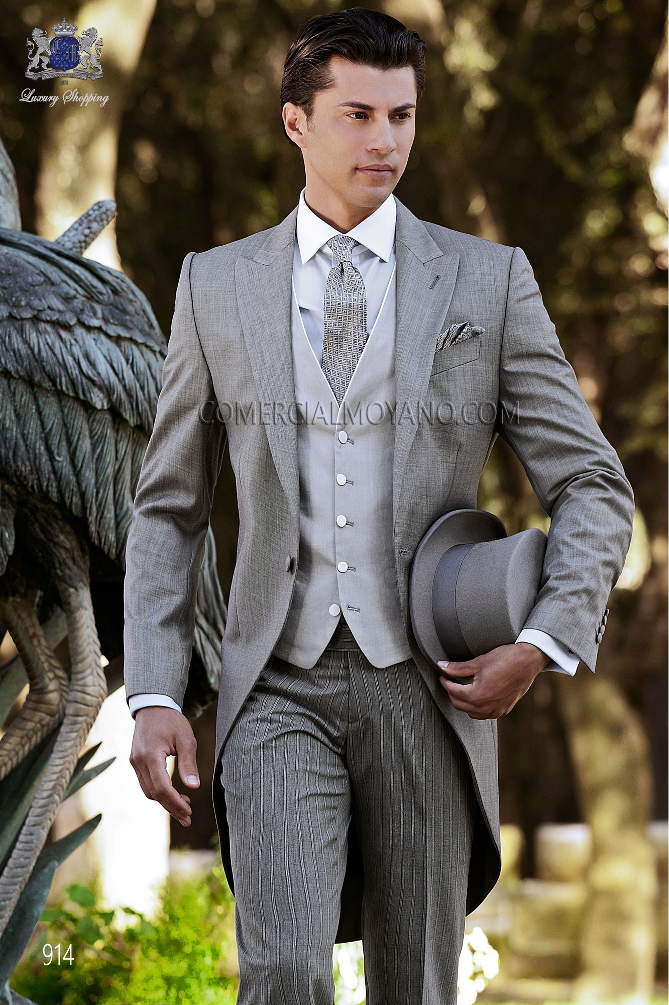 Traje de novio italiano gris modelo: 914 Ottavio Nuccio Gala colección Gentleman 2017