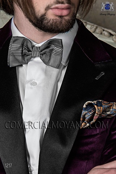 Gray silk cummerbund and bow tie 57511-9000-5091 Ottavio Nuccio Gala.