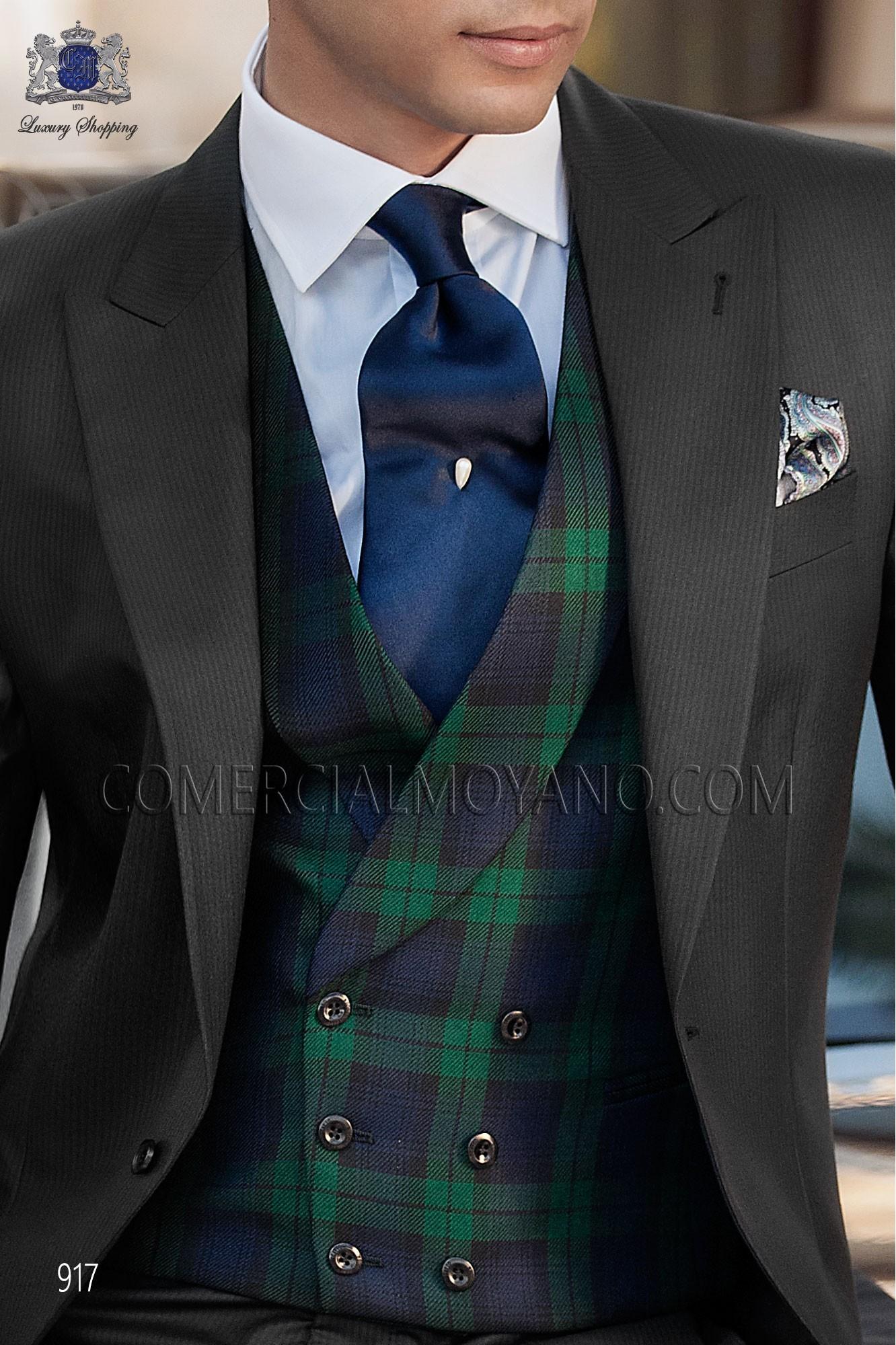 Italian gentleman black men wedding suit, model: 917 Ottavio Nuccio Gala Gentleman Collection
