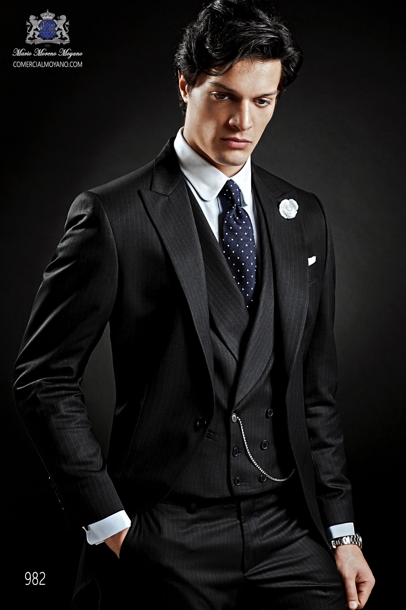 Gentleman black men wedding suit, model: 982 Ottavio Nuccio Gala ...