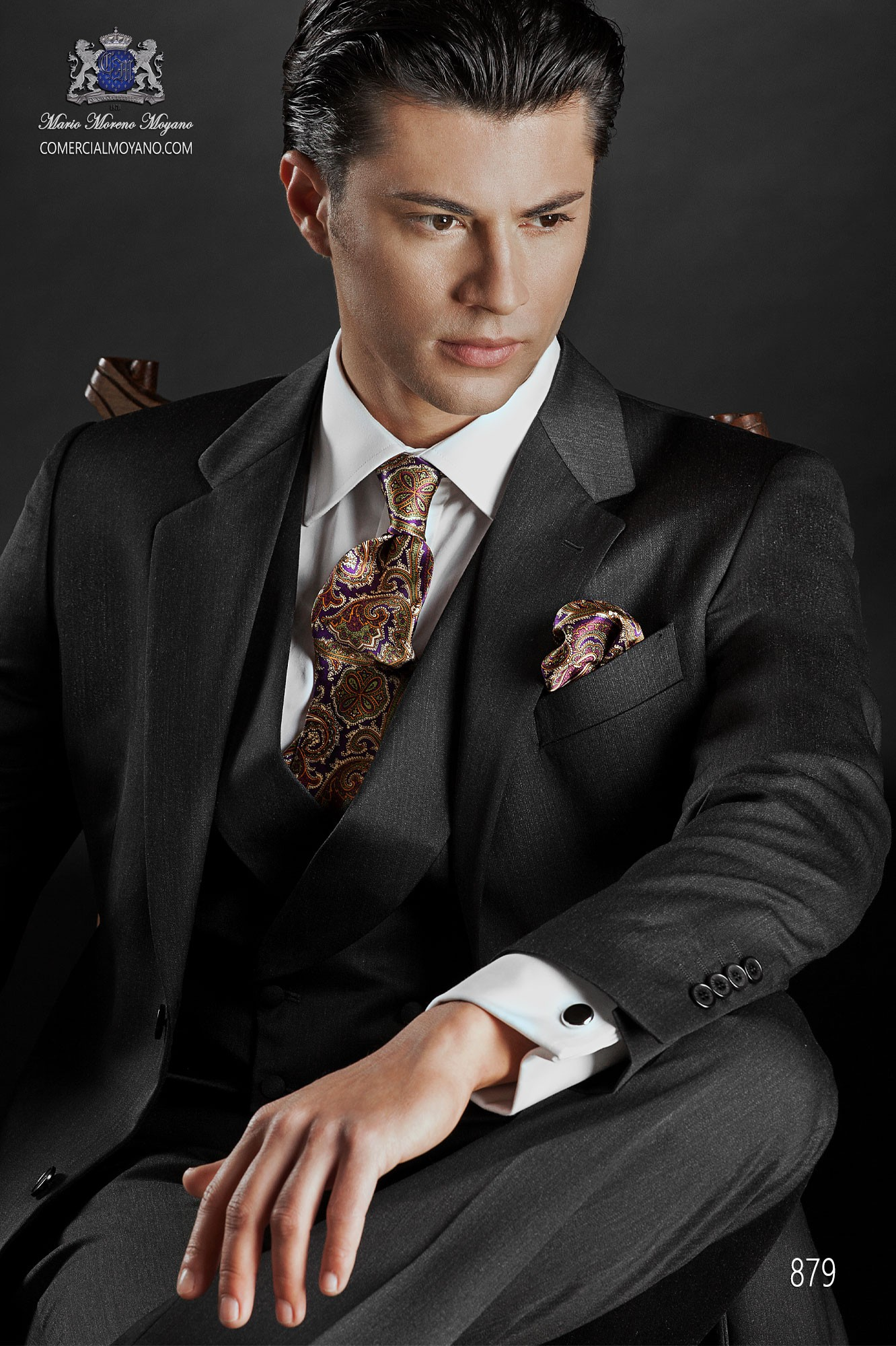 Traje Gentleman de novio gris modelo: 879 Ottavio Nuccio Gala colección Gentleman